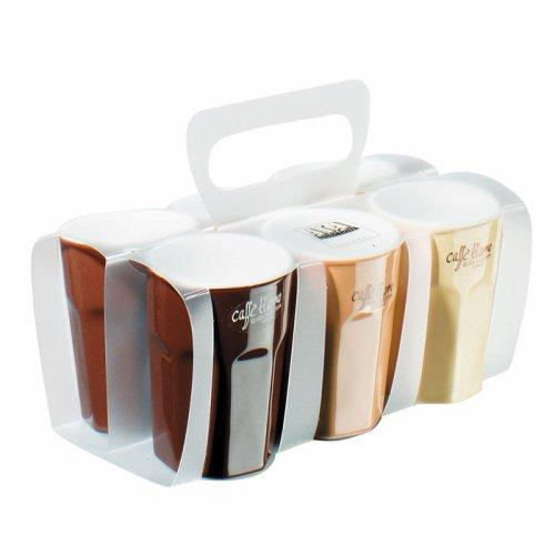 ASA 55079/232 Classic Pack Keramik Espresso Becher 3 Farben Sortiert