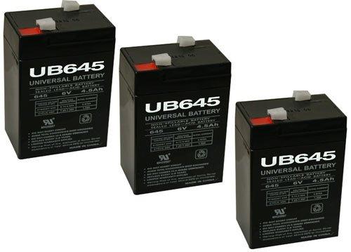 UPG UB645 6V 4.5AH SLA BATTERY WITH CHARGER -COMBO - 3 Pack