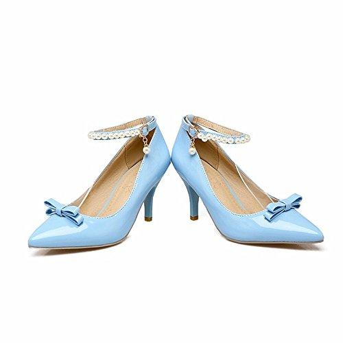 Mujer Zapatos Tamaño de Gran Arcos Mujer Zapatos de pasadores Bordada Shoes RFF Señoras Tacón Women's Zapatos blue de Superficial Tacones de nW4H1q48wY