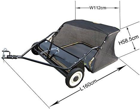 WilTec Barredora de césped 105 cm para segadora o Tractor ...