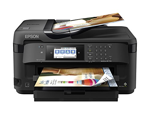 Workforce WF-7710 Wireless Wide-Format Color Inkjet Printer with Copy, Scan, Fax, Wi-Fi Direct and Ethernet, Amazon Dash Replenishment Enabled (In All One Epson)
