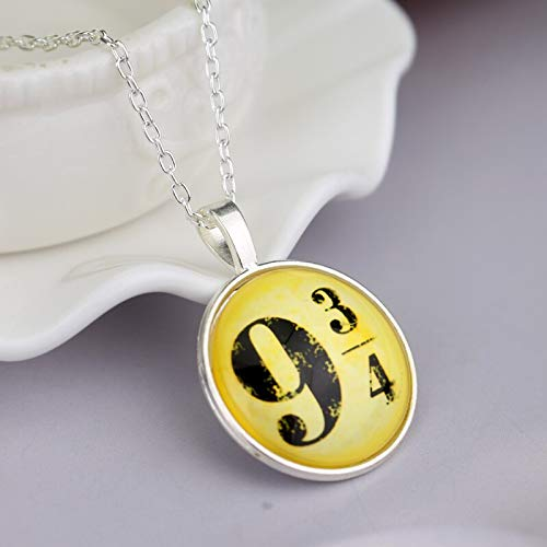 Necklace for Men Hot Movie Harry Magic 934 Pendant Jewelry Fashion Glass Cabochon Necklace For Poter Women Men Christmas Cosplay Gifts