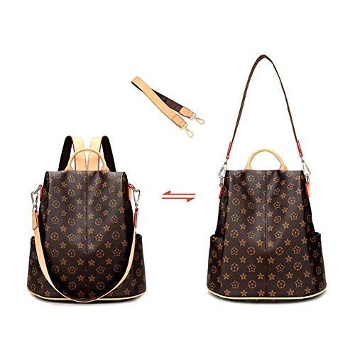 Amazon.com: YKXIAOYU Women Backpacks Anti-Theft Backpack Womens New Wild Fashion Large-Capacity Print Backpack Pu Travel Bag: Garden & Outdoor