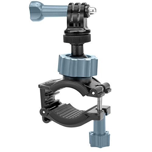 USA Gear Action Cam Bike or Motorcycle Handlebar Mount Holder with Easy Adjustable Adapter - Fits Bars up to 1.5 Inches. Compatible w/Garmin VIRB Ultra 30, Vivitar, GoPro Hero & More Action Cameras