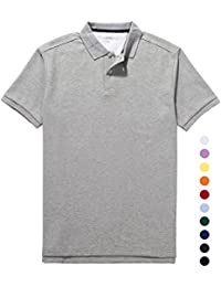 "<span class=""a-offscreen"">[Sponsored]</span>Mens Golf Polo Shirt Pique CoolDry Wick Short Sleeve Collar Polo Solid"