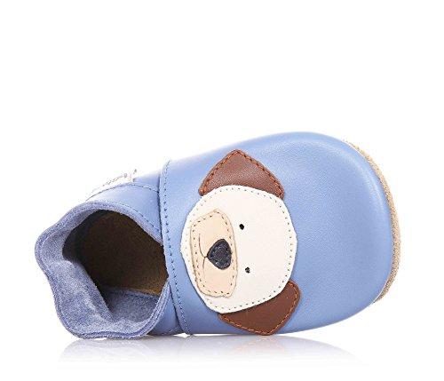 Bobux Bobux - 4117 Hund blau - Patucos de cuero para niño azul azul azul - azul