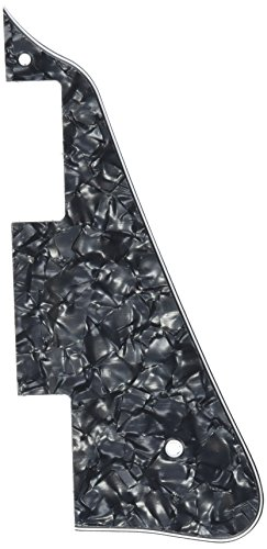 Kmise A7701 3-Ply Black Pearl Plate Pick Guard Les Paul Replacement, 4 Pieces by Kmise