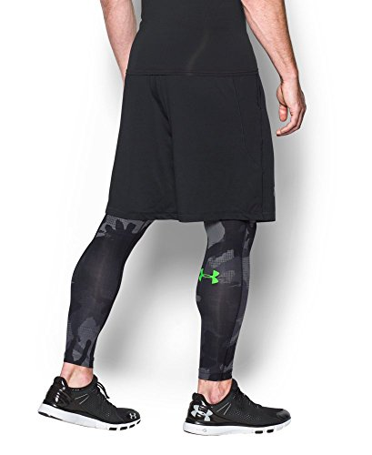Under Armour Armour HeatGear Printed Legging - Mens Black / Steel 006 Small by Under Armour (Image #3)