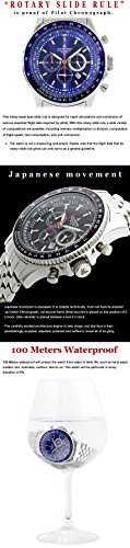 LAD-WEATHER-Swiss-Tritium-Rotary-Slide-Rule-Pilot-Chronograph-Japanese-movement-Military-Casual-Mens-watch