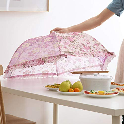 Gotian Kitchen Food Umbrella Cover Picnic Barbecue Party Fly Mosquito Mesh Net Tent New Keep Mosquitoes Bugs Outside Elements Away off Food (Purple) ()