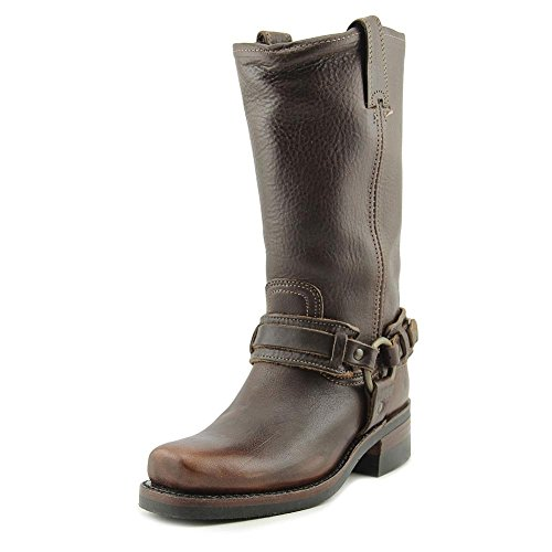 Frye Women's Belted Harness 12R Distressed Chestnut Leather Boot
