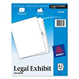 Avery-Style Premium Collated Legal Index Exhibit Dividers, A-Z and Table of Contents, Side-Tab, 8.5 x 11-Inches, 1 Set (11374), Office Central