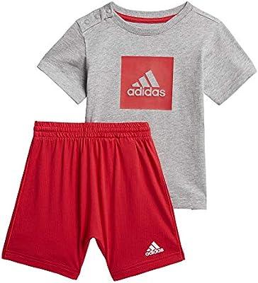 adidas I Logo Sum Set Chándal, Unisex bebé, Top:Medium Grey ...