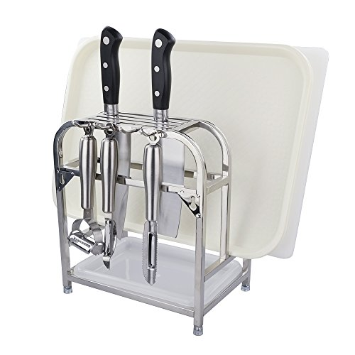 Chopping Board Rack (Begale Cutting Boards Organizer/Knives Block/Bakeware Rack with)