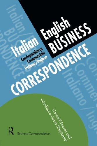 Italian/English Business Correspondence (Languages for Business) by Routledge