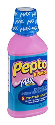 (Pepto Bismolmaxliq 12 Size 12z Pepto-Bismol Max Strength Upset Stomach Relief)