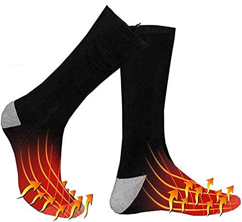 Verwarmde Sokken Voor Dames Heren Met Oplaadbare Elektrische Verwarming Katoenen Sokken Winter Thermische Voetwarmer…