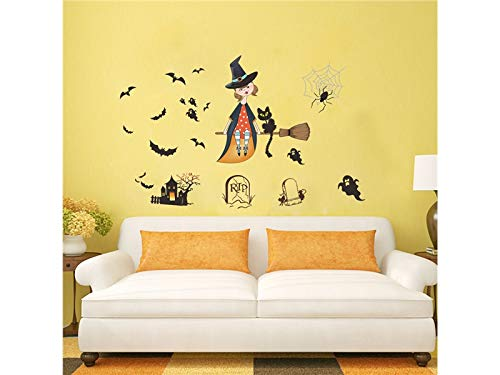 Hezon Happy Festival Halloween Horror Wall Mirror Window Stickers Removable by Hezon (Image #1)