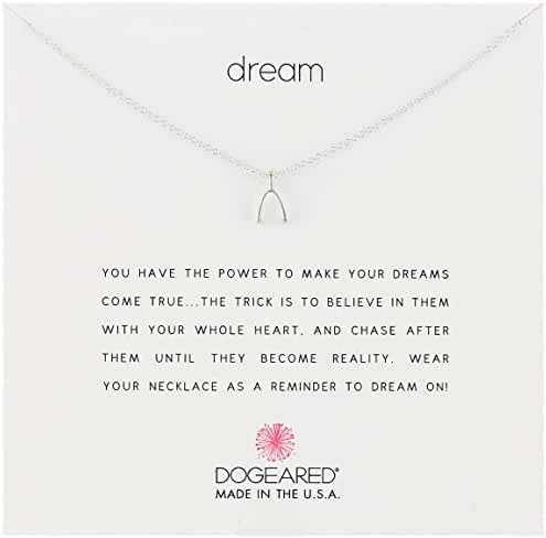 Dogeared Sterling Silver Thanks Reminder Necklace, 18