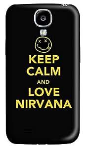 Samsung Galaxy S4 I9500 Hard Case - Keep Calm Love Nirvana Galaxy S4 Cases