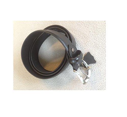 Acumer Leather Money Belt Travel Security Safe Black Hidden Zipper ()