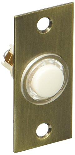 Baldwin 4853050 Rectangular Bell Button, Antique ()