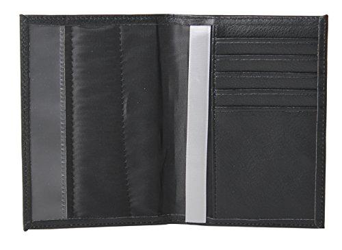 RFID-BLOCKING passport cover with Ribbon (black)