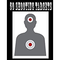"""50 Shooting Targets 8.5"""" x 11"""" - Silhouette, Target or Bullseye: Great for all Firearms, Rifles, Pistols, AirSoft, BB…"""
