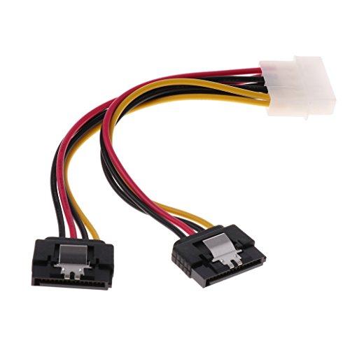 D DOLITY Cable de Adaptador de Corriente SATA Dual a Molex Cable de 4 pines a 15 pines para Disco Duro HDD-15 cm/5.91...