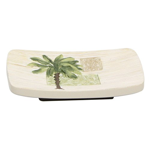 Palm Tropical Soap Dish - Bacova Guild Citrus Palm Soap Dish