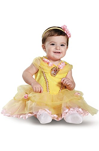 Disguise Baby Girls' Belle Infant Costume, Yellow, 6 to 12 Months