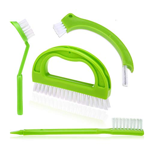 - Grout Cleaner Brush - Tile Brush (4 Pack) with Nylon Bristles - Great Use for Deep Cleaning Bathroom, Kitchen and The Rest of The Household,Kitchen Brush