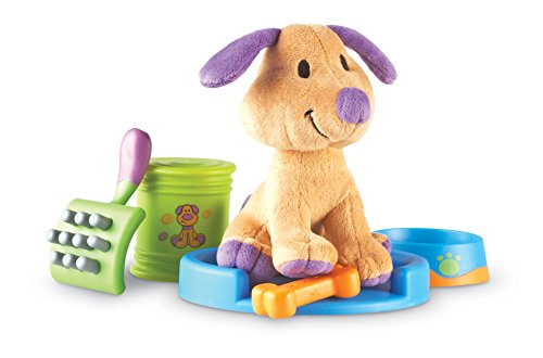 Learning Resources New Sprouts Puppy Care Play Set, First Pet, Imaginative Play, 6Piece Set, Ages 2+