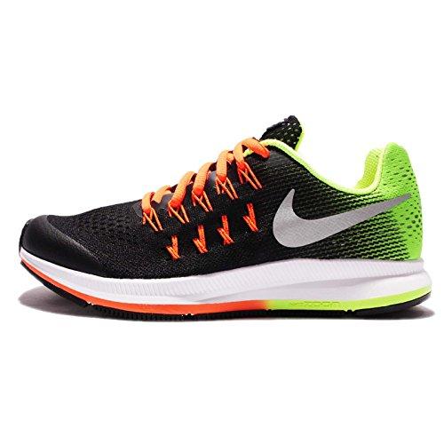 Nike Solarsoft Thong 2, Zapatillas de Deporte para Hombre Negro (Black / Metallic Silver-Volt-Total Orange)