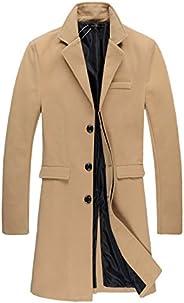 Beninos Mens Trench Coat Autumn Winter Long Jacket Overcoat