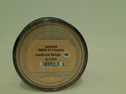 - Bareminerals Original Foundation Spf15 Medium Beige N20, 0.28oz, 8g