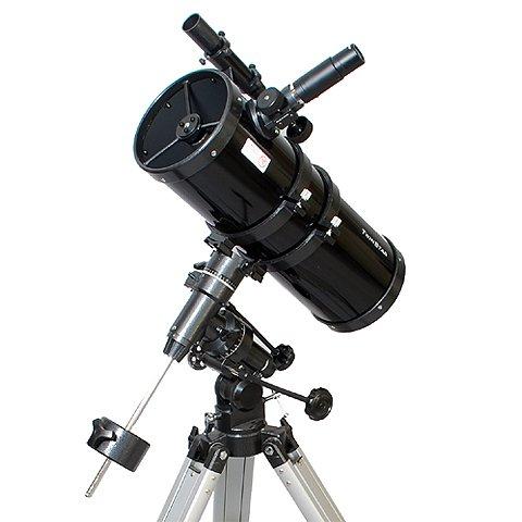 Black AstroVenture 6'' Short Tube Reflector Telescope with Digital USB Camera