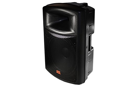 EMB EB115BT Pro Single 15'' 2-way Powered Speaker with BLUETOOTH 1200 Watt Built-in Amplifier/USB Mp3 Player by EMB
