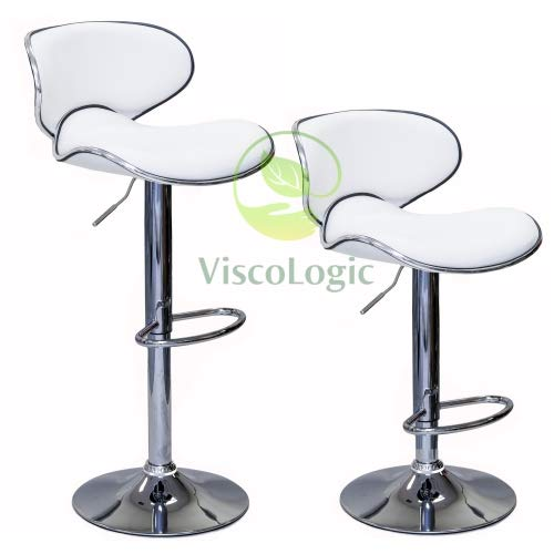 Viscologic Oasis Swivel Leather Adjustable Hydraulic Bar Stool