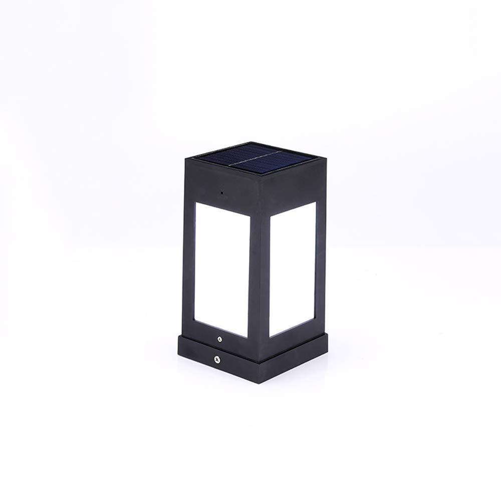 Magosca Outdoor Super Bright Pillar Lantern Solar Powered LED Super Light Décor External Garden Yard Deck Street Top Wall Fence Universal Home IP54 Waterproof Column Post Lamp