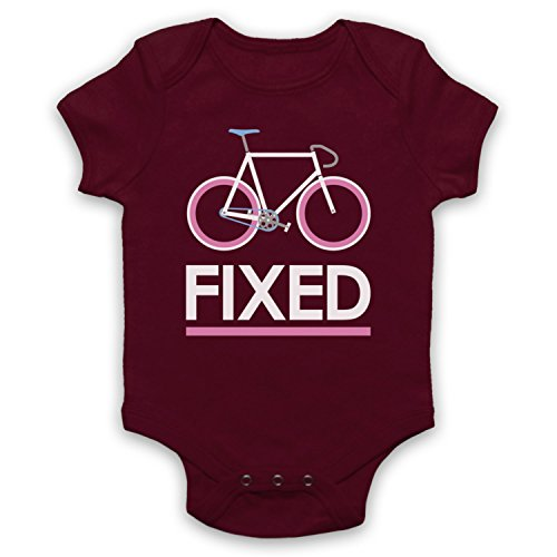 Maroon 5 Merchandise (My Icon Unisex-Babys' Fixed Gear Bicycle Retro Style Baby Grow, Maroon, 3-6 Months)