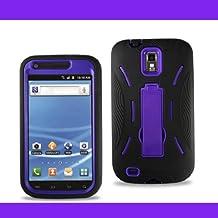 Apex HYBSAMT989BKPUR Premium Heavy Duty Hybrid Case with Kickstand for Samsung Galaxy S2, Retail Packaging, Purple/Black
