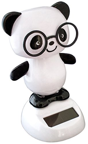Solar Dancing Panda with Adhesive Bottom to Secure to Surface by Kitodesign