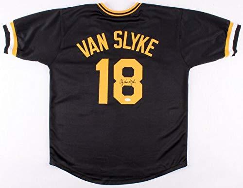 Andy Van Slyke Autographed Signed Memorabilia Pirates Jersey JSA Coa 3?All-Star Of 1988,1992,1993