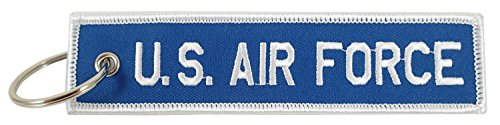 US Air Force, Embroidered Key Chain Air Force Key Ring