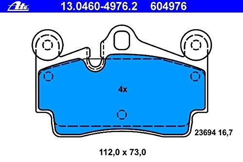Rear Brake Pads for Audi Q7 Porsche Cayenne & Volkswagen Touareg ATE GERMANY+2 BRAKE SENSORS