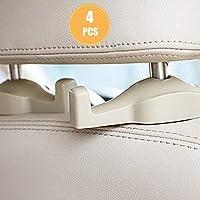 Universal Car Headrest Hooks 4 Pack,headrest hanger Storage Organizer for Handbag Purse Coat Cloth,Car Back Seat…