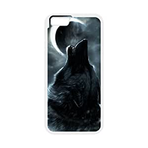 """T-TGL(RQ) Iphone6 4.7"""" Hard Back Cover Case Wolf and Moon with Hard Shell Protection"""