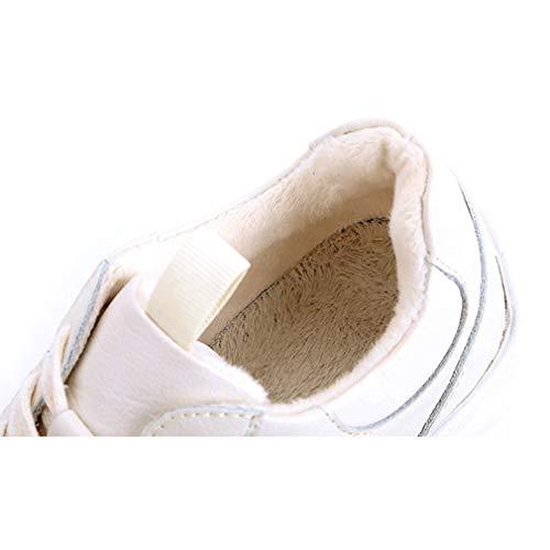 Primavera Y Mujer Libre Zapatillas De Aire Yan Antideslizantes Deportivas Blanco Al Ligeras Cuero Otoño Para Plataformas XqUpcIw