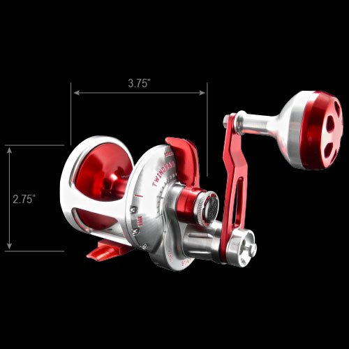 Accurate Valiant BV2-500 Reel – Right-Handed – Red/Silver Review